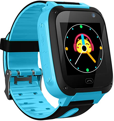 Smooce Kinder Smartwatch LBS Telefon Uhr,Touch LCD Kid Smart Watch für Jungen Mädchen mit SOS Anruf Kamera Anti-Lost Voice Chat