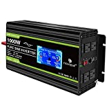 Novopal 1000w 12V Pure Sine Wave Power Inverter with 4 Four AC Outlets