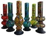 Arl Group Le Bazaar Shop Bong Bang Arty - Pipa de agua acrílica con forma y diseño liso en mezcla de colores, 31 cm