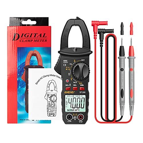 Wenyounge Multímetro ST180 Pinza de Corriente Digital 4000 Cuentas amperímetro voltímetro Amplificador de Coche capacitancia NCV Prueba de ohmios