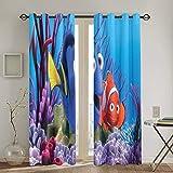 QQSDWQ Findet Nemo Zwei Spleißvorhänge 132,1 x 182,9 cm,