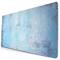 マウスパッド 大型 ゲーミング デスクマット 古い 壁 青い 浅紫色 グラデーション 色褪せ かわいい 防水性 耐久性 滑り止め 多機能 超大判 40cm×75cm