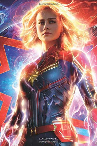 Captain Marvel: 120 page 6 x 9 in. lined notebook, composition book, journal for school, work, college, journaling, traveling, memories, gratitude list, grocery list, diary, stories, poems