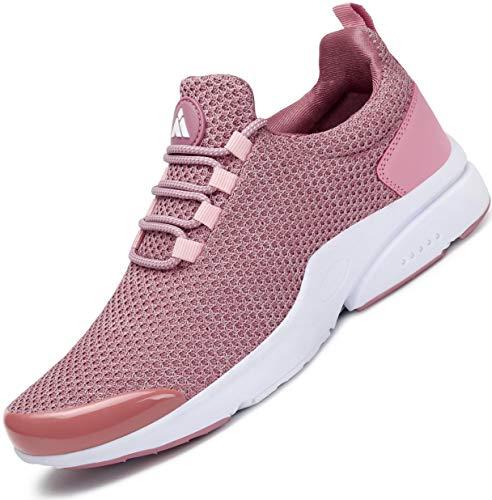 Mishansha Laufschuhe Damen Sportschuhe Dämpfung Turnschuhe Atmungsaktive Fitness Running Sneakers Frauen Walkingschuhe Pink1 38 EU