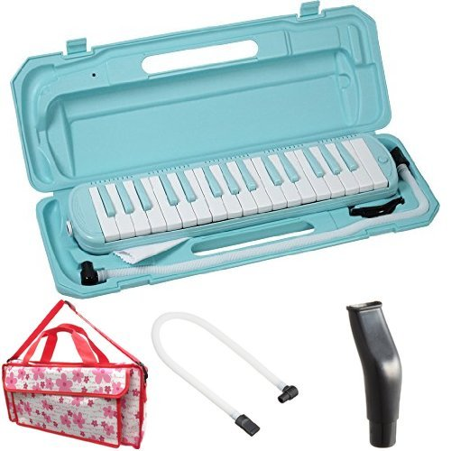 KC 鍵盤ハーモニカ (メロディーピアノ) ソラ P3001-32K/SORA + 専用バッグ[Girly Flower] + 予備ホース + 予備吹き口 セット