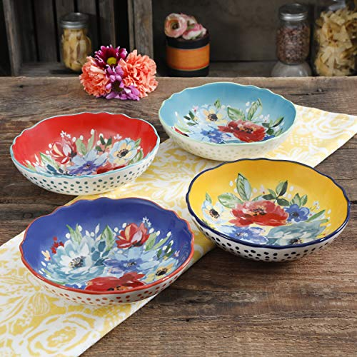 The Woman Melody 7.5-Inch Pasta Bowls, Set of 4