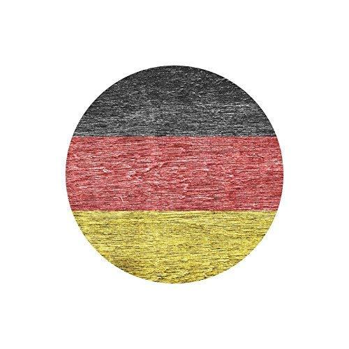 Deutschland Deutsche Flagge gemalt auf altem Holz Runde rutschfeste Gummi Mousepad Mauspads Matten Fall Abdeckung für Büro Home Frau Mann Angestellter Chef Arbeit