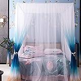 Kyman Cama matrimonial Cortina for el Dormitorio, Capa Doble Chino Mosquitera Casa Rural Cortina Princesa Style-E_1.8m (Color : B, Size : 1.5m)