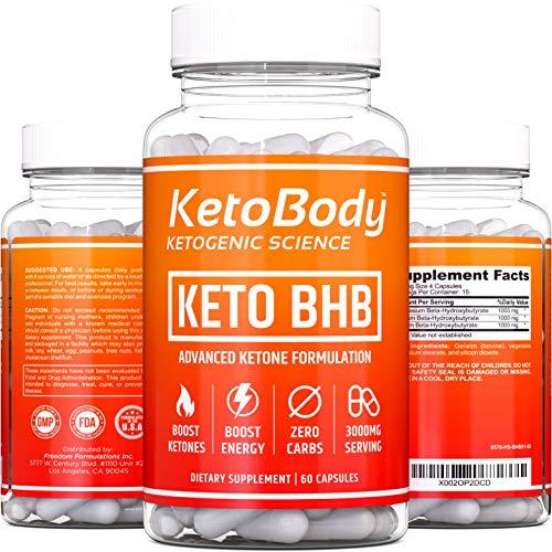 KetoBody™ Advanced Keto BHB Keto Pills [3000mg Serving] | Powerful Ketosis Booster - Keto Diet Pills to Help Support Metabolism + Manage Cravings, Boost Energy & Focus | Premium Exogenous Ketones