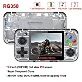 Linekong 2019 Upgraded Opening Linux Tony System RG350 Handheld Game Console with 3.5inch IPS Screen , Retro Game Console with 32G TF Card Built (T-White)