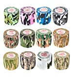 Vet Wrap Tape Self Adhesive Cohesive Bandage, FDA Approved, Camo Camouflage Colors Dog Cat Horse Self Stick...