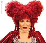 WIDMANN Blood red Baroque vampiress Wig (peluca)