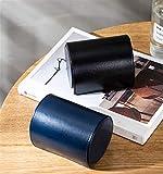 CJIANHUA Caja de Almacenamiento de Corbata portátil PU Cilindro de Cilindro de Cilindro de Cilindro Corbata Corbata Corbata Hebilla magnética de Moda highgrade Caja de Embalaje (Color : 2pcs)