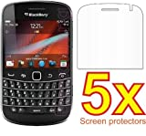 eTECH Collection 5 Pack of Crystal Clear Screen Protectors for BlackBerry Bold 9900 - from USA