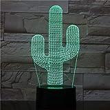 Lámpara de Mesa Cactus luz de Noche Decorativa lámpara de Cactus romántica Navidad decoración del Dormitorio del hogar Tipo de Cambio de Color decoración del hogar