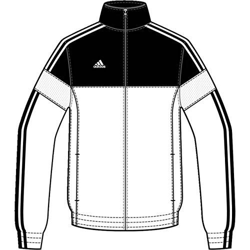 adidas ESS 3S ESS - Chaqueta deportiva para hombre, color blanco y negro, S-4XL blanco / negro XL