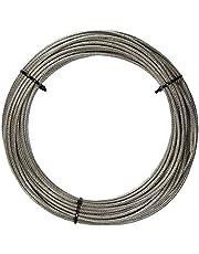 100 M de acero inoxidable - de alambre cuerda de 7 x 7 D=2 mm medio suave, PVC revestido, transparencia - acero inoxidable A4 cable de acero