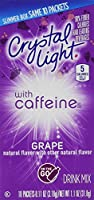 Crystal Light On The Go Drink Mix, Grape with Caffeine グレープウィズカフェイン10パケット [海外直送品]