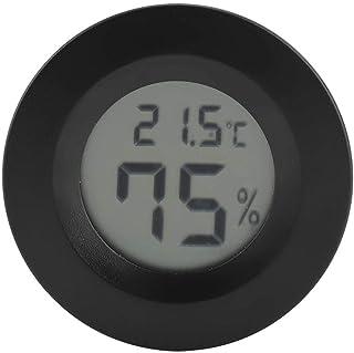 Mini Thermometer Runde Form Temperatur Digital LCD Monitor Innenraum Runde Luftfeuchtigkeit Temperaturanzeige für Humidore...