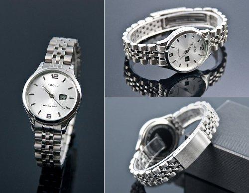 Eurochron Damen Funk Armbanduhr (Junghans-Werk) Gehäuse und Armband aus Edelstahl, Funkuhr, 964.4790.79