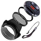 LUMOS SAL18552 SAL1855 SAL35F18 SEL1670Z - Juego de accesorios para objetivos Sony Alpha (5 unidades, 55 mm, rosca de filtro de 55 mm)