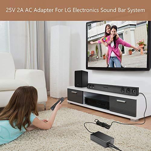 TAIFU 25V AC DC Adapter for LG Electronics SH4 2.1ch 300W 360W SK5Y SK6Y SK8Y NB3732A NB4533A NB3540 NB3730A NB4530 NB5540 NB5541 AS851 LAS851M DA-50F25 DA-38A25 EAY62909702 Soundbar LG Musicflow SJ4