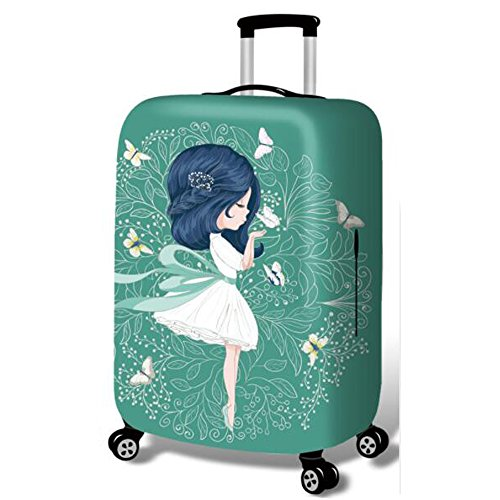 YEKEYI Luggage Protector Case Washable Travel Luggage Cover Cute Girl Suitcase Protector Fits 18-32 Inch