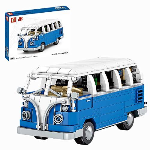 DSXX Technik Retro Bus Bausteine Bausatz, Campingbus Modell, 777 Teile Konstruktionsspielzeug Kompatibel mit Lego Technic