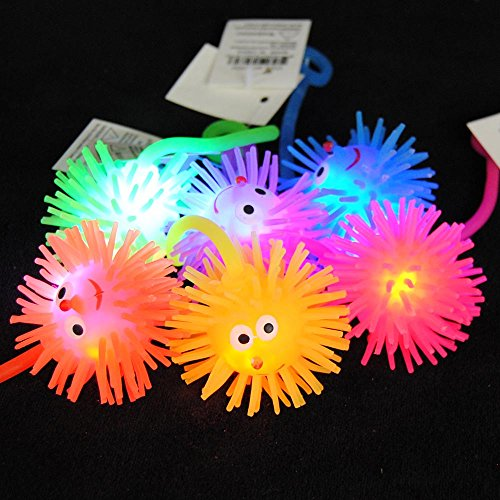 "12-Pack of Flashing Panda Multi-Color LED Flashing Puffer Yo-Yo 2"" Mouse, Assorted Colors"
