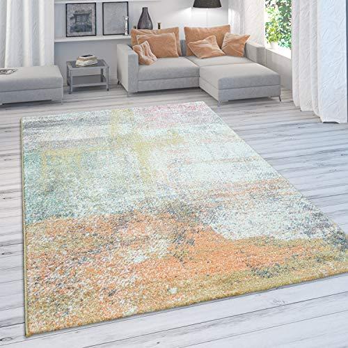 Alfombra Salón, Pelo Corto Moderno En Colores Pastel, Motivo De Galaxia Vintage, tamaño:160x230 cm, Color:Multicolor 5