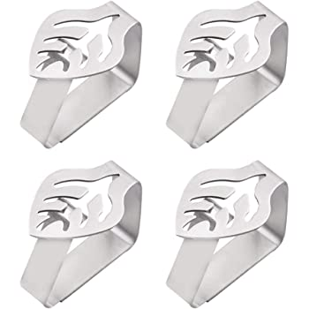 Leaf Shape Boao 6 Pieces Tablecloth Clamp Holder Stainless Steel Table Cloth Clip Table Cover Clamps Adjustable Table Cloth Holder Clamps for Home Wedding Party Picnic Outdoor and Indoor