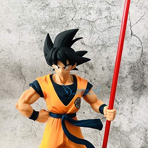N / A La Versione del 20th Anniversary Theatre dei Capelli Neri Seven Dragon Ball Sun Son Goku Son Goku Si Leva in Piedi con Un Bastone E Posa per I Capelli Modello Nero Sun Modello Fatto A Mano