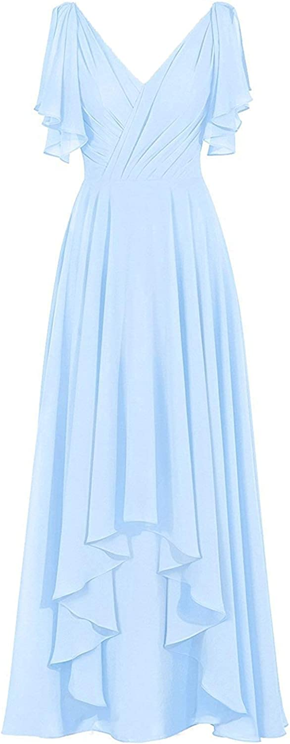 Hi-Lo Mother of The Bride Dresses As Gowns Rapid rise service Neck Evening Formal V