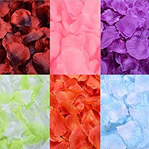SOLVE 3000 Pcs Artificial Silk Rose Petals for Wedding Party, Anniversary,Romantic Night, Event, Party, Decoration