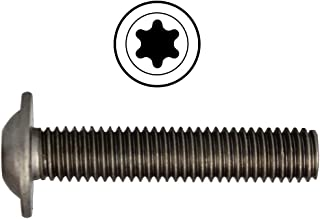 D´s Items®   platte kopschroeven met flens en binnenzeskant (ISR) - M4x25 - ISO 7380 - roestvrij staal A2 - [100 stuks] -...