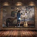 ZKPWLHS ImpresionessobreLienzo 1 Unidades The Last of Us Game Poster Print Zombie Survival Horror Action HD Poster Modern Home Decor Wall Art (50X70Cm) con Marcos