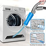 Haphome Dryer Vent Cleaner Kit, Quickly Dryer Cleaner,Dryer Duct Cleaning Kit Over 3.5-Feet Long,Attachment for Dryer Vent Attachments (1 Pack 2 Tubes)