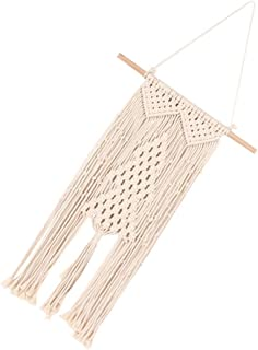 EXCEART Macrame Wall Hanging Tapestry Tree Shape Handmade Woven Tapestry Boho Hanging Ornament for Xmas Holiday Room Home ...