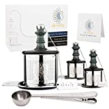 Tea Ball Infuser Set with 1 Multi-Cup Large Steeper, 2 Single-Cup Infusers for Loose Leaf, Stainless Steel, Fine Mesh - Mulling Spice Ball Set - Tea Accessories, Strainers, and Filters