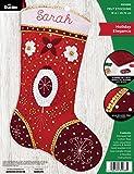 Bucilla, Holiday Elegance, Felt Applique Stocking Kit, 18'