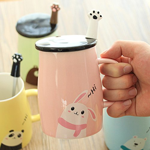 Blue,11oz Notrefly Dog Mug With Lid And 3D Novelty Puppy Head Stainless Steel Spoon Ceramic Funny Dog Coffee Mug Dog Tea Cup Gift For Dog Lovers Women And Girls