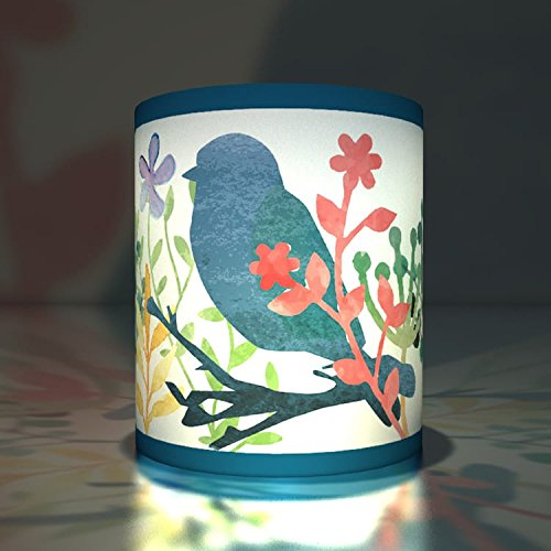 Kartenkaufrausch 5 vogeltjes transparante lichten | theelichthouder | klein transparant papier lichten niet alleen voor zomernachten, blauw