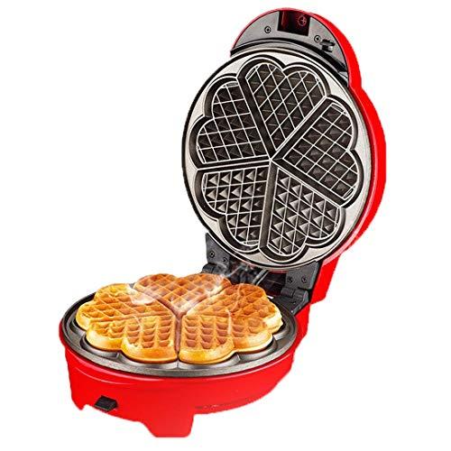 FSJD Mini máquina de Hacer sándwiches portátil, eléctrica, Redonda, para el hogar, con luz indicadora, para panqueques Individuales, Galletas, Huevos