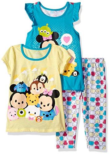 Disney Toddler Girls' 3 Piece Tsum Legging Set, Yellow, 4t