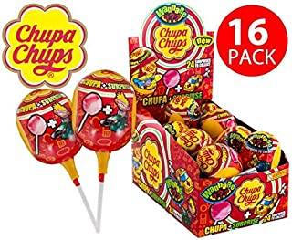 Chupa Chups Surprise Lollipop & Toy - Box of 16 Pieces