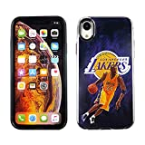 CASETERNITY PC + TPU Dual Layer Hülle Kompatibel mit iPhone XR 6.1 Zoll Slim Fit iPhone XR Lakers Kobe Bryant 23 Basketball