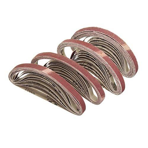 TGACD Cinturón de arena 10 Uds 330 * 10mm 40/60/80/100/120 lijadoras abrasivas lijadoras lijadora herramientas de pulido papel de lija, 40