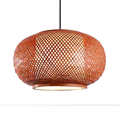 YONGYONG Laternen Im Chinesischen Stil In Hotelzimmern Handgearbeitete Lampen Aus Bambus Aus Schaffell Retro Restaurant Kronleuchter Wohnzimmerleuchten (Size : 60 * 28cm, Wattage : 220V)