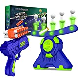 BAODLON Shooting Games Toy for Age 5, 6, 7, 8, 9, 10+ Years Old Kids, Boys - Glow in The Dark Floating Ball Target with Foam Dart Toy Gun, 10 Balls/5 Targets - Ideal Gift- Compatible with Nerf Toy Gun