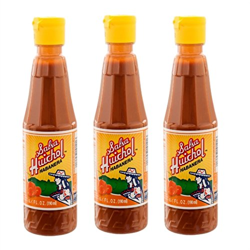 3 X Salsa Huichol Habanera 6oz Bottle Mexican Hot Sauce